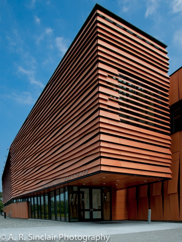 Harry Parker Boathouse - Brighton, MA // Wood panels with ...