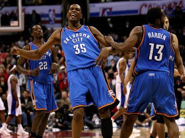 Who did #Thunder lose 2 in their very 1st playoff series as the Thunder? From #1 #NBA #Quiz www.nbabasketballquizgame.com