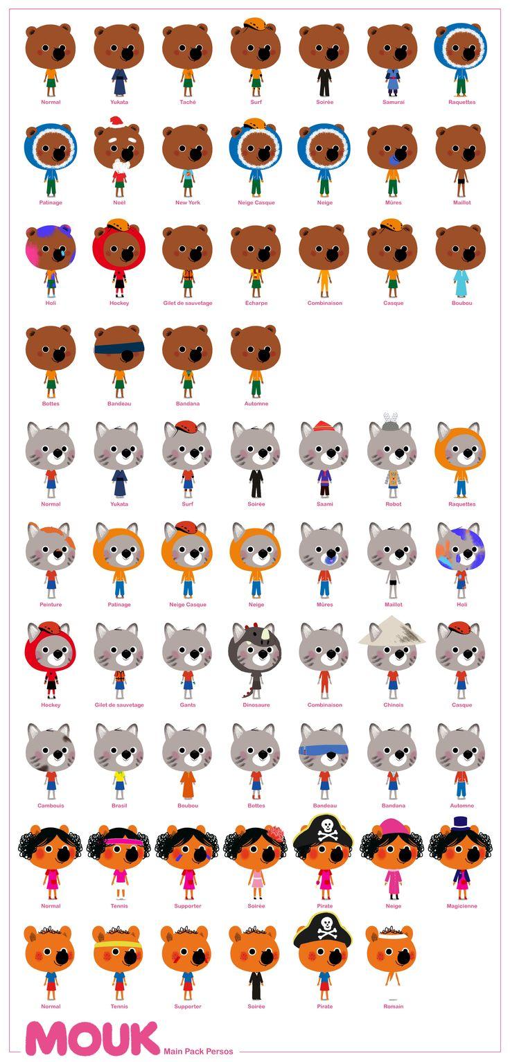 Mouk - Main characters