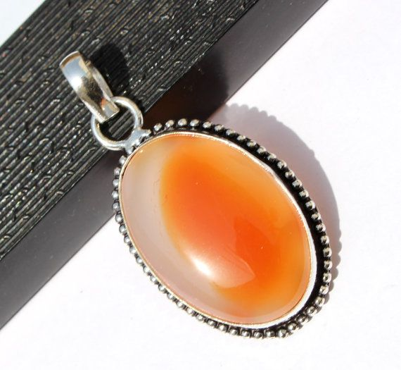 1 3/4 Shaded Red Agate Oval cabochon Pendant by RareGemsNJewels