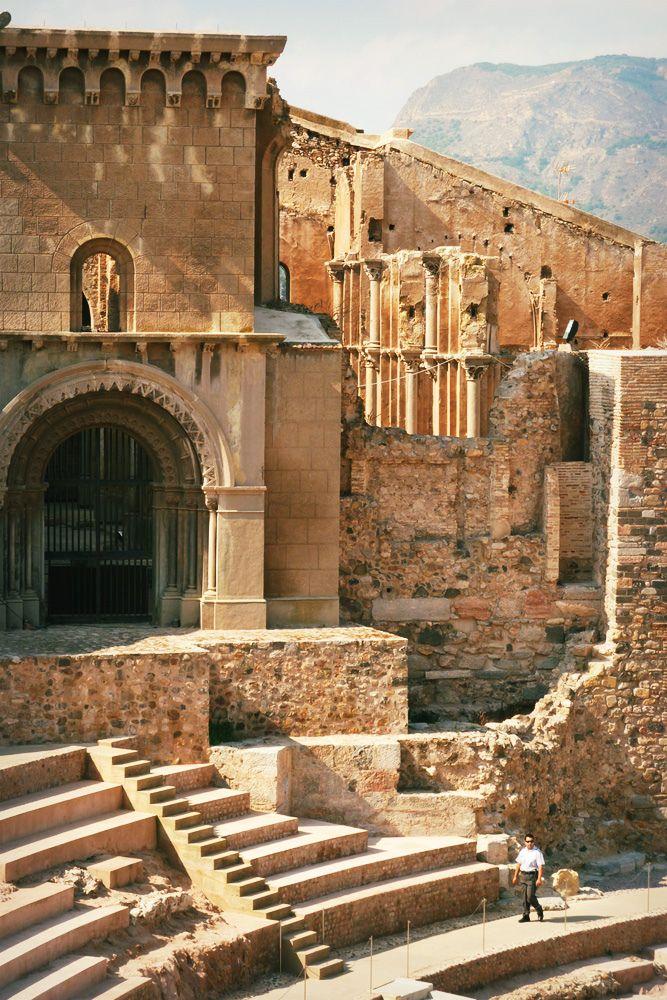 The roman theatre Cartagena Spain