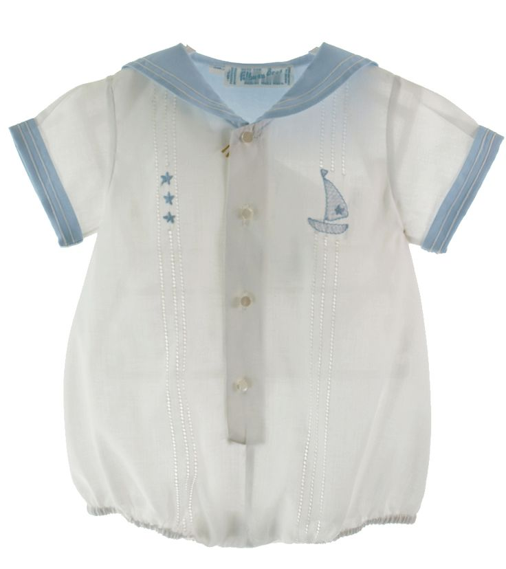 Feltman Brothers Boys White Sailor Layette Bubble