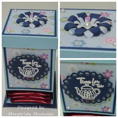 Caixa de Chá - projecto realizado pela Margarida Machado
