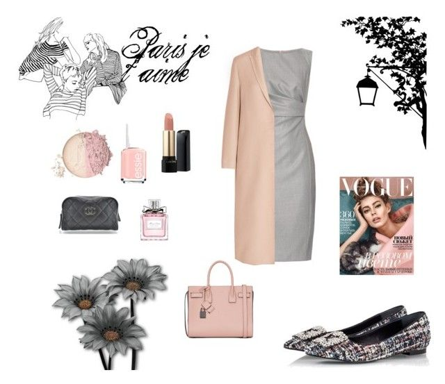 paris je t'aime by sheiscarla on Polyvore featuring polyvore, fashion, style, MaxMara, Lanvin, RAS, Yves Saint Laurent, Lancôme, Christian Dior, Chanel, Essie and clothing