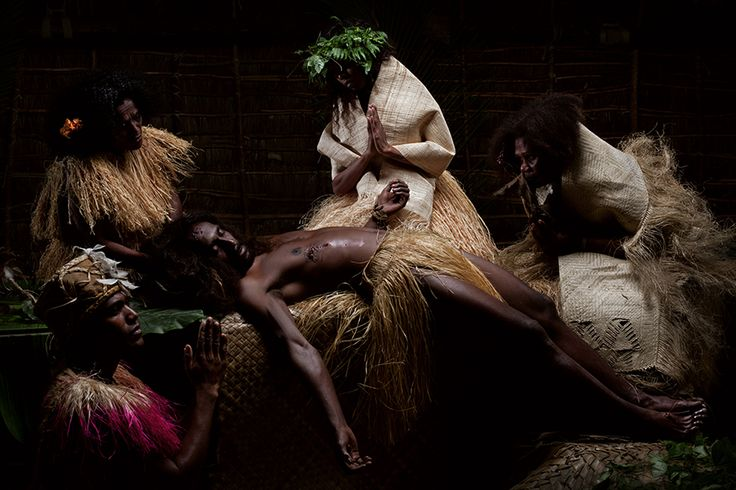 La Pieta by Greg Semu, backlit photograph, 2010. Contemporary artists from the Pacific Islands frequently play with and invert such perceptions, and their work provides an alternate, more complex vision of the region.