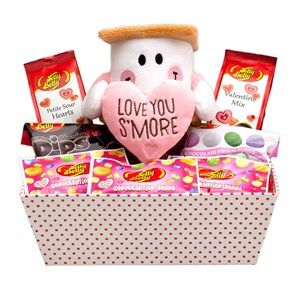 Love You S'More Valentine Gift Tray filled with a popular assortment of Jelly Belly beans and more.