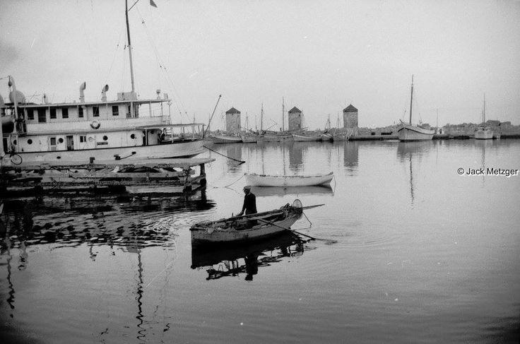 JACK METZGER Ρόδος στο λιμάνι  1959 περίπου