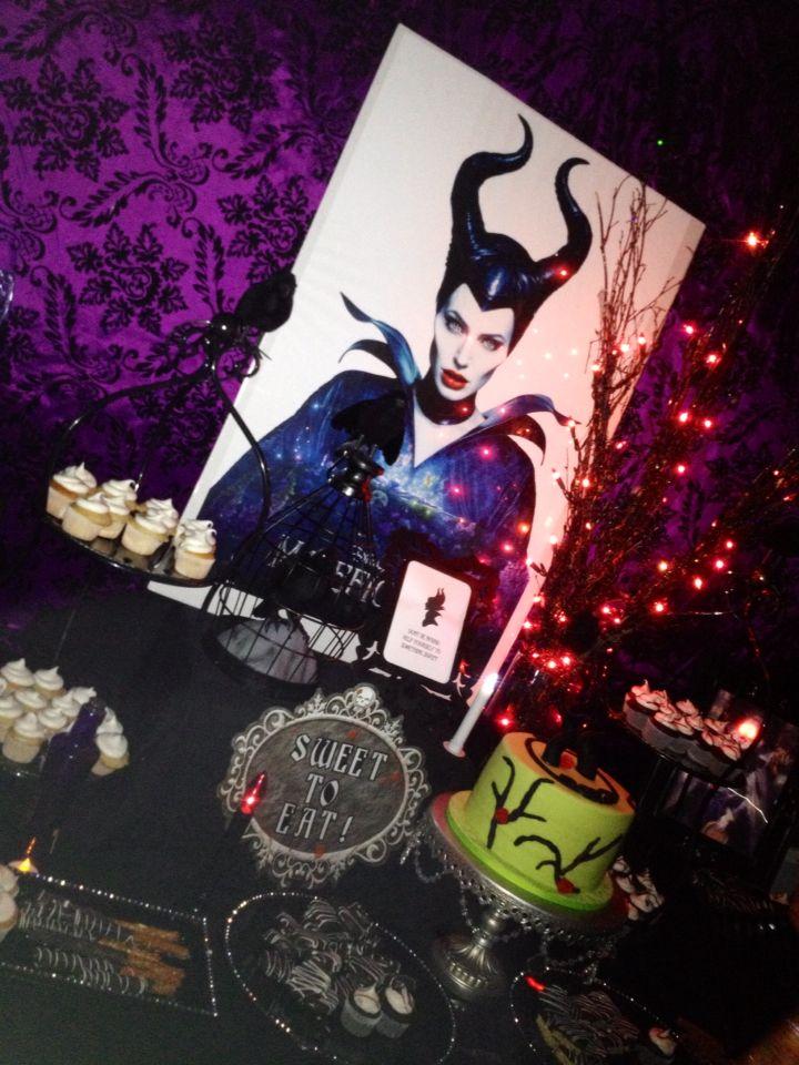 Maleficent dessert table