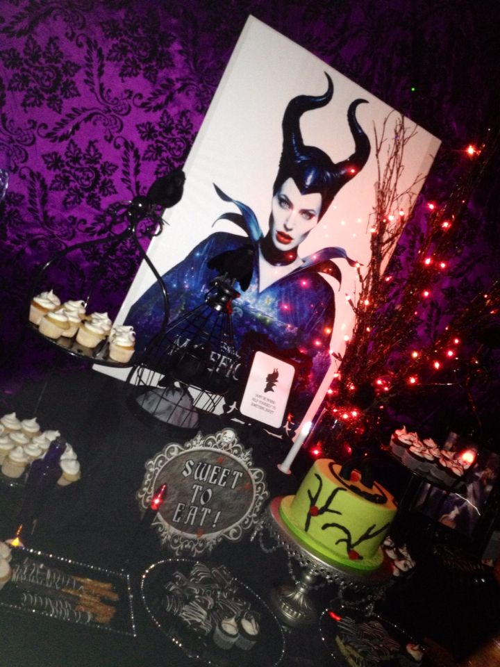 Maleficent dessert table