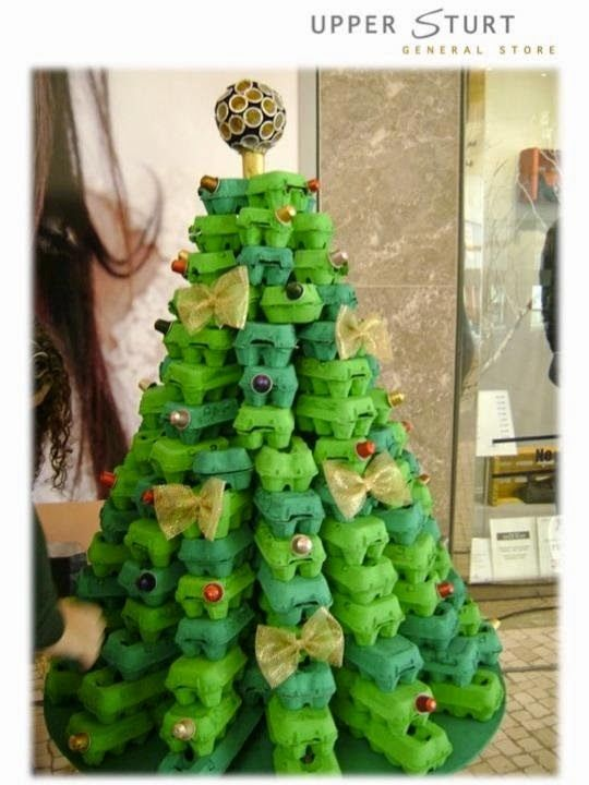 53 best unusual christmas trees decorations images on for Christmas decorations using egg cartons
