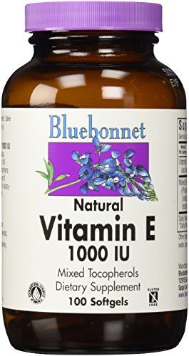 Bluebonnet's natural vitamin e mixed soft gels provide the popular, natural d-alpha tocopherol with a full spectrum of natural tocopherol isomers (beta, delta and gamma) in a base of vegetable oil (i.e., soy). Available in easy-to-swallow soft gels for maximum assimilation and absorption.... more details at http://supplements.occupationalhealthandsafetyprofessionals.com/vitamins/vitamin-e/product-review-for-bluebonnet-vitamin-e-1000-iu-mixed-softgels-100-count/