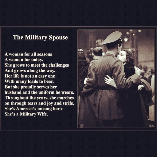 I love this military wife poem!