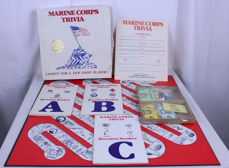 Marine Corps Trivia Board Game VTG 1985 Big Ben Games Rare Ltd Ed Open Unused