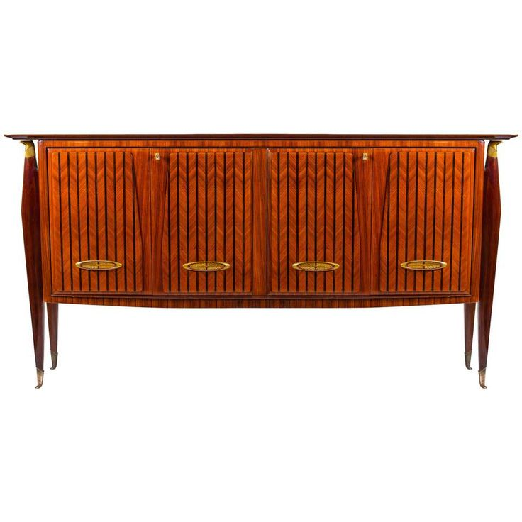 Sideboard or Bar Art Deco in the Style of Paolo Buffa, 1950s 1