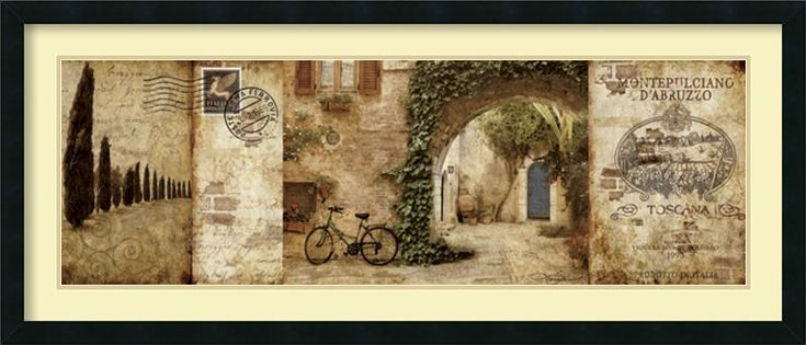 'Tuscan Courtyard' by Keith Mallett Framed Painting Print