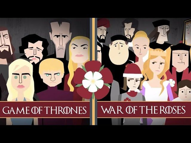 If you're a Game of Thrones aficionado, you may already know that it was inspired by the Wars of the Roses, in which two noble English families fought during the 15th century for the English throne. This outstanding TED Talk video reveals the many historical people and events that GRRM used to create his epic fantasy.