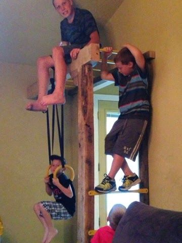 Indoor jungle gym - doesn't even need a lot of space!!