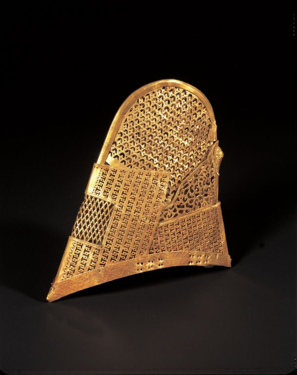 (Korea) Gold Cap. ca 5~ 6th century CE. Silla Kingdom, Korea. Korea National Treasures #189.