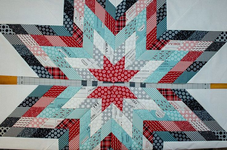 Jellied Lone Star Quilt free pattern on Moda Bake Shop featuring Feed Company fabric by Sweetwater. Quilt design and tutorial by Terri Ann of childlikefascination.com
