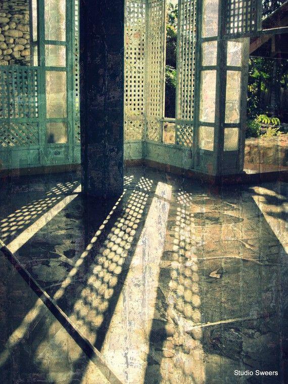 Shadows through the lattice.