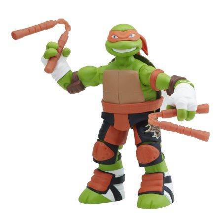 Teenage Mutant Ninja Turtles 5 inch Battler Michelangelo Basic Action Figure, Multicolor