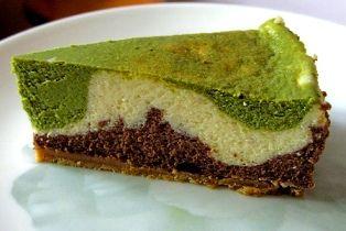 Chocolate Vanilla Green Tea Cheesecake - haven't tried it but it looks interesting