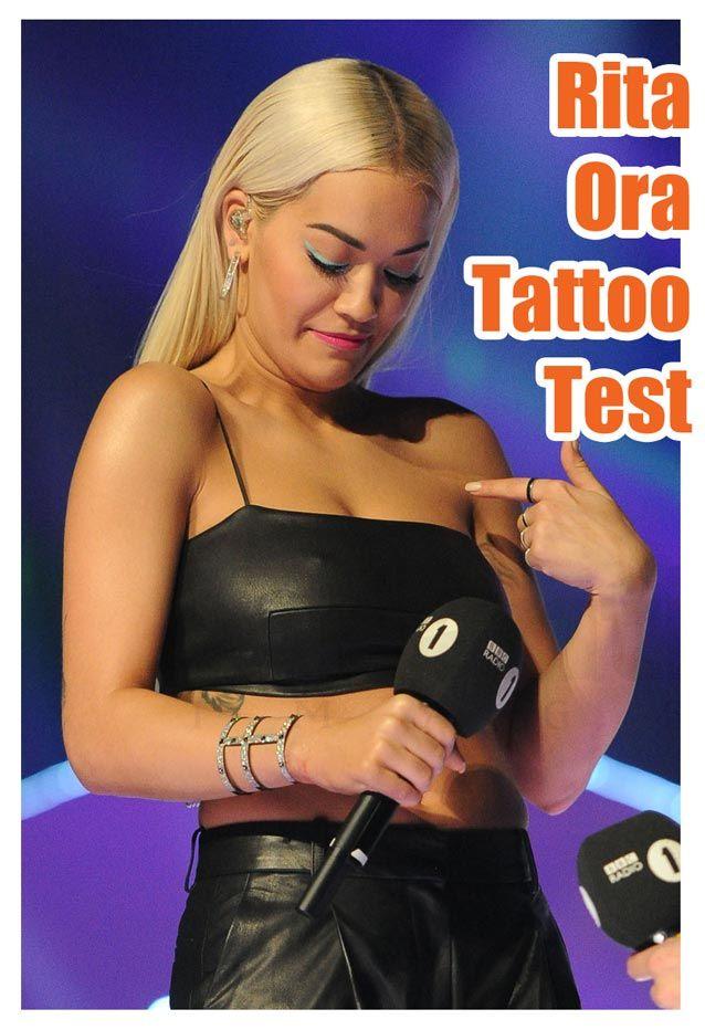 10c4c7e6b13 Rita Ora Shows Off Her Tattoos In A Racy Leather Crop 😮   Tattoos ...