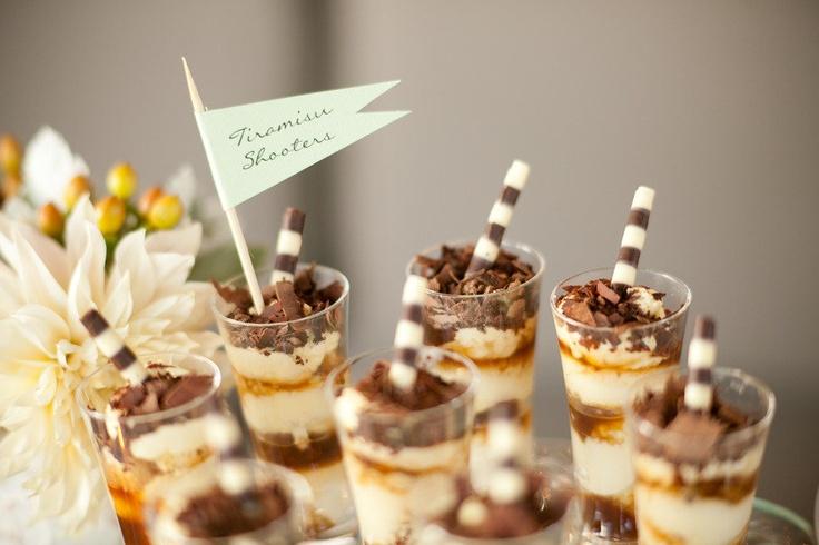 Tiramisu shooters ;)Tiramisu Shooters, Desserts Ideas, Photography Events Design, Tiramisu Cake, Minis Desserts, Great Ideas, Style Me Pretty, Desserts Tables, Events Plans