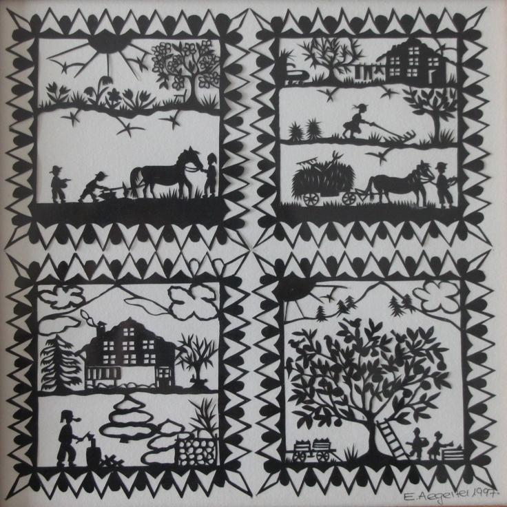 Four Seasons, by E. Aergerter, 1997, Switzerland
