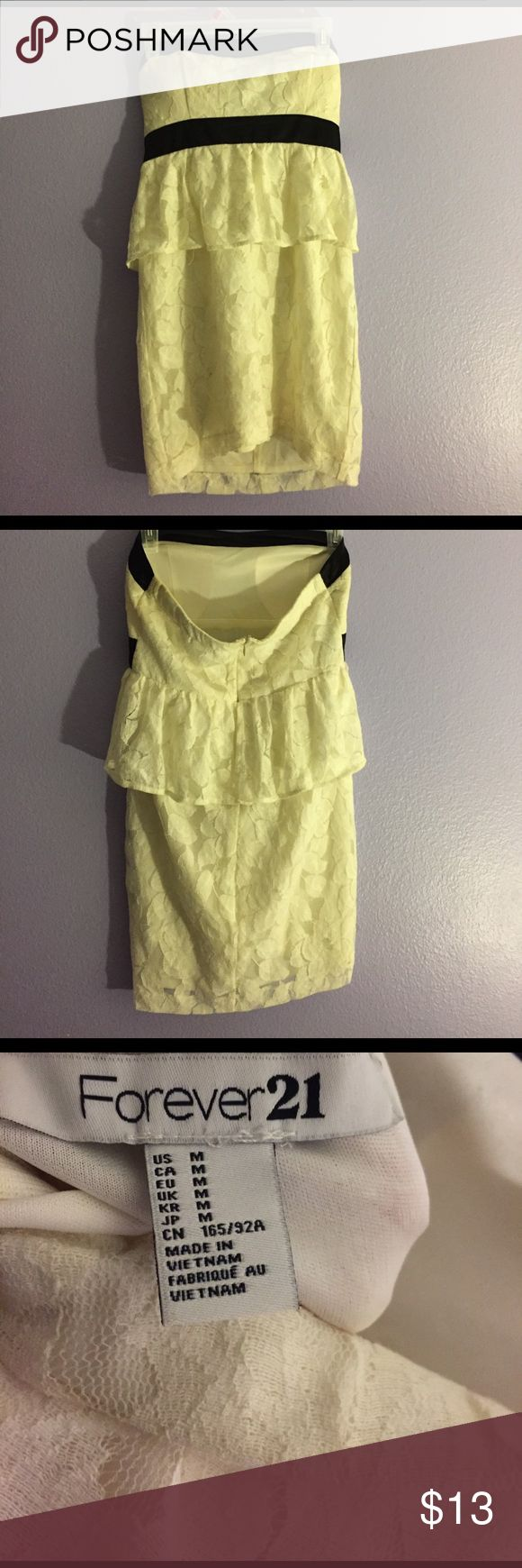 Black and White mini dress Lacey detail Forever 21 Dresses Mini