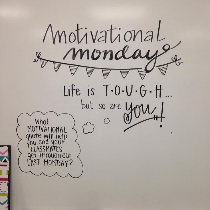 office motivation ideas. Motivational Monday - Morning Meeting Board Goals Life Is Tough But So Are You\u2026 Office Motivation Ideas E