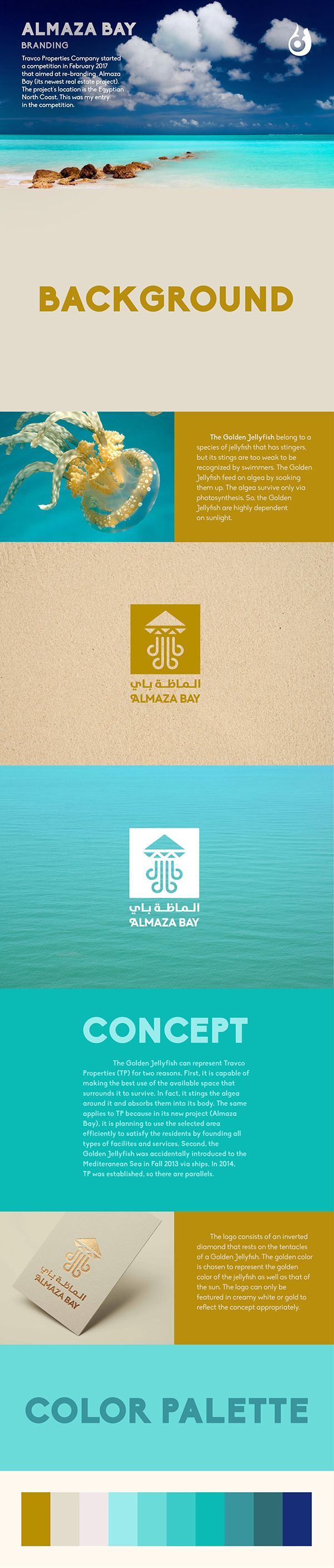 Re-Branding Almaza Bay (Option 1) on Behance #Branding #CorporateIdentity #VisualIdentity #GraphicDesign #LogoDesign #BusinessCards #Letterhead #Envelop #Concept #Creative #Modern #Diamond #Almaza #Egypt #Tourism #RealEstate #EgyptianNorthCoast #Beach #Jellyfish #Namatakom #نمطكم #ArabGraphicDesign #Arab