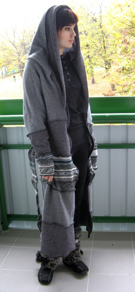 Upcycled recycled silver grey sweater coat by LilithsTreasures, $320.00  this is kind of awesome.