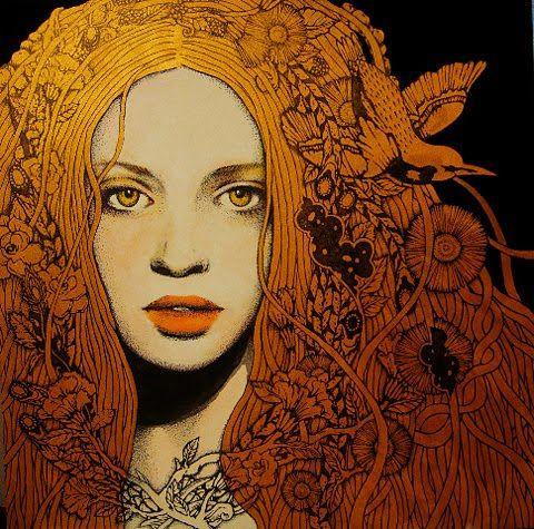 .: Terakado Yukari, Inspiration, Art, Illustration, Beautiful, Golden Girl, Hair
