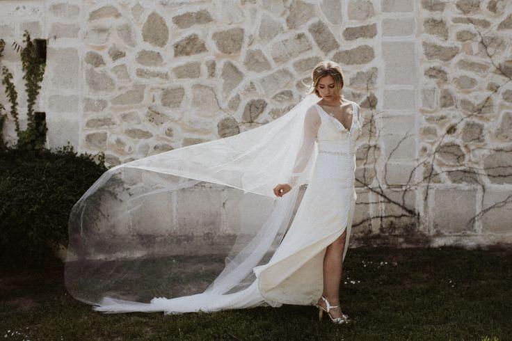 Bogi is wearing the Diana  gown on her Big Day / Nora Sarman Bridal / photo Pinewood Weddings