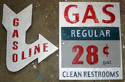 "Vintage Gas Station Signs | Vintage Gas Station Signs, Garage Signs, Custom Automobilia Signs ... Idea for ""order here signage"""