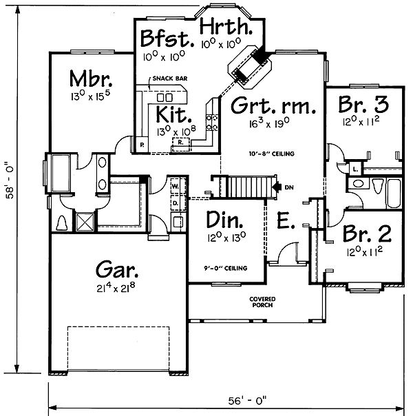 17 best images about floor plans on pinterest house for Ranch house plans with 2 master suites