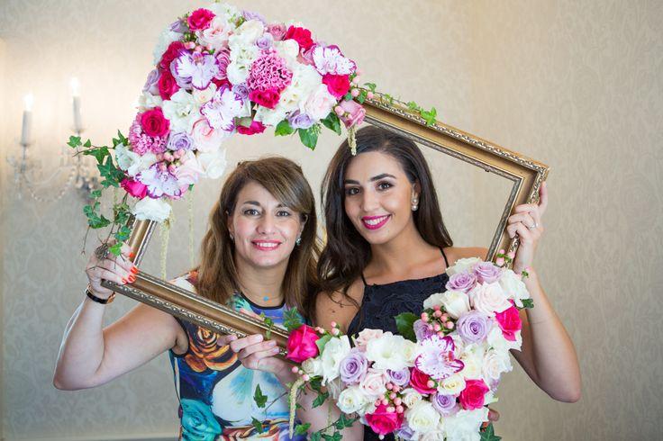 Flower frame by @oliviamaiolo for Stefania's bridal shower at @DunbarHouseWB