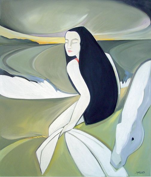 The White Waves by Syra Larkin on ArtClick.ie  Irish Art Mythology