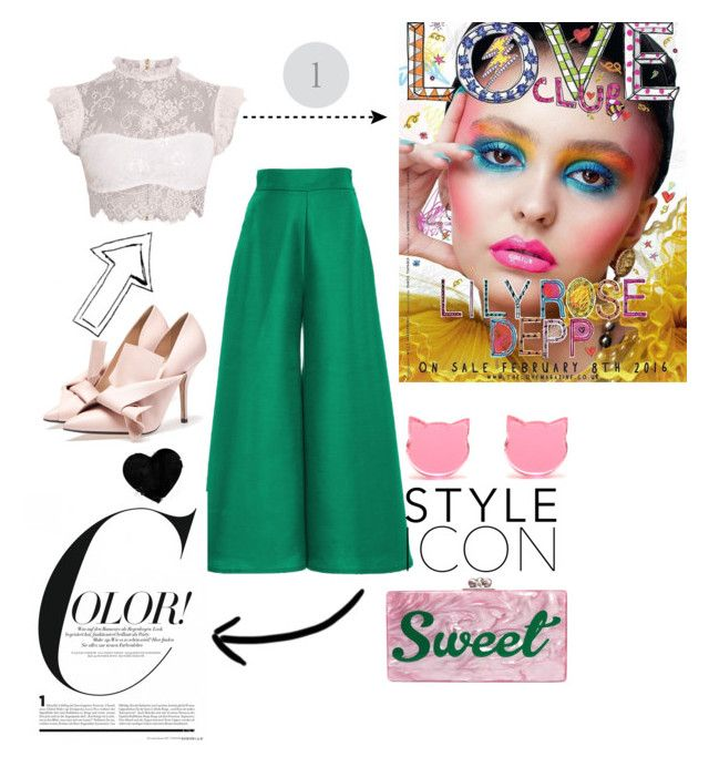 """green"" by veronika-grabanova on Polyvore featuring Edie Parker and Paper London"