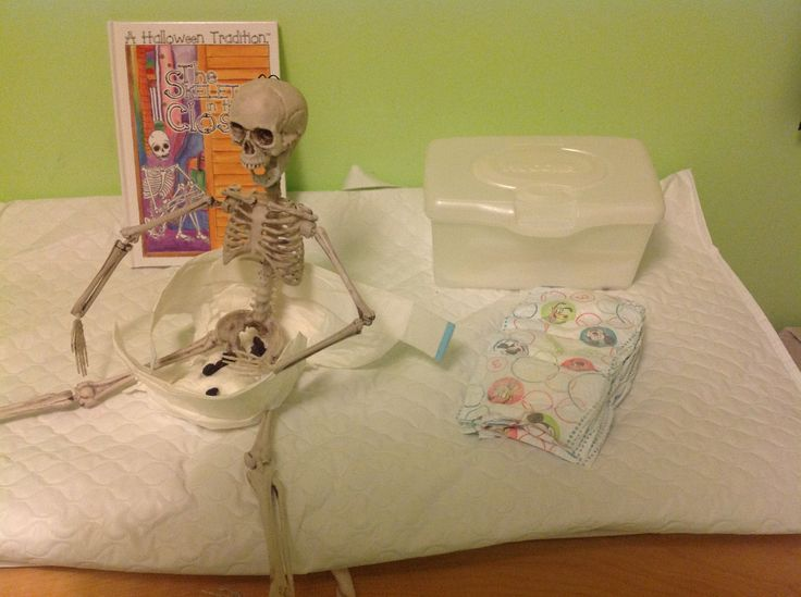 Skeleton in the Closet had an accident in one of the kids diapers