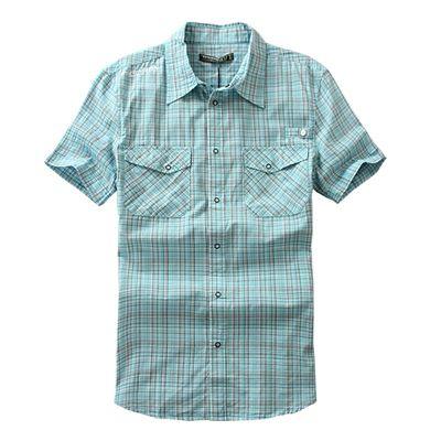 Европейские и американские оригинальные одного мужчины с короткими рукавами летом рубашки больших ярдов студенты свободно, вскользь рубашки хлопка плед сюртуки - Taobao