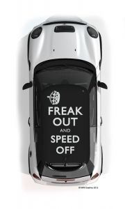 Freak Out MINI roof graphic