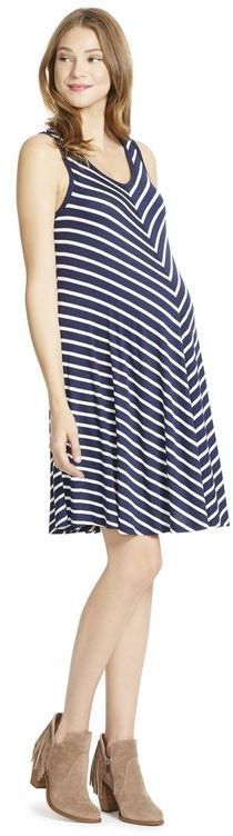 Jessica Simpson Striped Maternity Dress