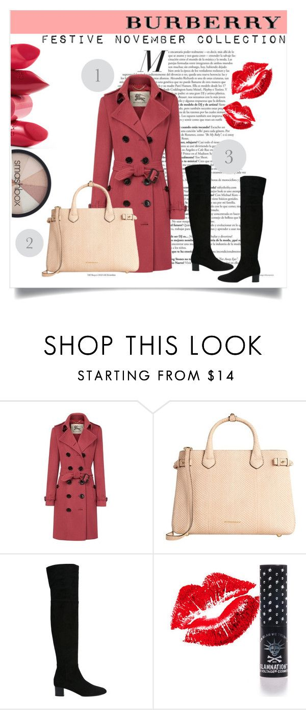 """""""Cashmere Trench Coat- Burberry Festive November Collection"""" by ermengrade ❤ liked on Polyvore featuring Burberry, Tom Ford, Manic Panic, Rossetto and Smashbox"""
