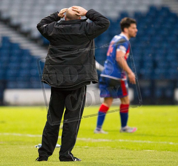 Queen's Park's coach Gus MacPherson shows his frustration during the SPFL League Two game between Queen's Park and Elgin City