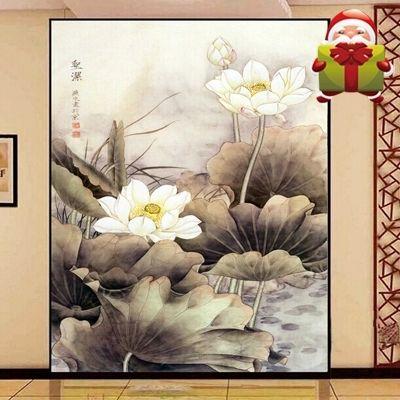 3D декор стен большой мура тв современный дом стены декор живопись холст печать искусство HD самоклеящиеся гостиная вход лотоса(China (Mainland))