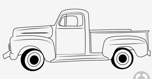 Pin By Teresa Venham On Cricut Truck Coloring Pages Classic Ford Trucks Vintage Truck