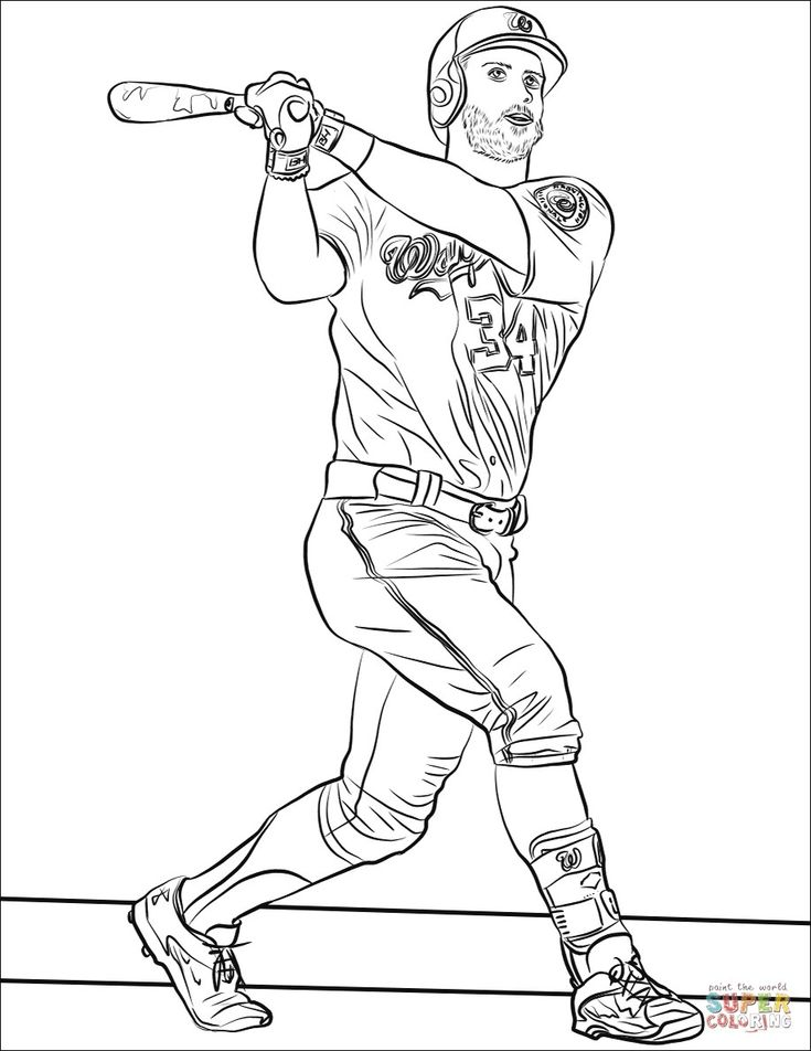Baseball Players Coloring Pages Ideas di 2020