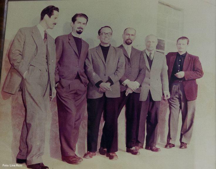 Armando Villegas, Fernando Botero, Enrique Grau, Eduardo Ramírez Villamizar, Guillermo Wiedemann y Alejandro Obregón.